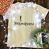 Мужская футболка с принтом - YvesSaintLaurent