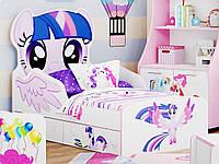 Кровать детская Маленькая пони Луч 80х160 сиреневый
