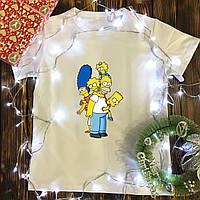 Мужская футболка с принтом - Симпсоны