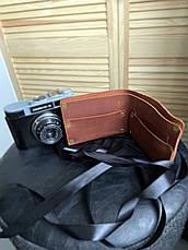 """Кожаный кошелек ручной работы """"Ковбой"""", фото 3"""