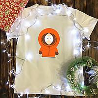 Мужская футболка с принтом - Кенни ( Южный парк)