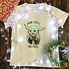 Мужская футболка с принтом - Йода