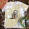 Мужская футболка с принтом - Микки с роботом