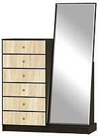 Комод 6Ш с зеркалом Фантазия NEW Мебель Сервис