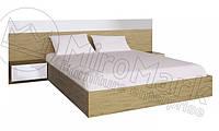 Кровать с прикроватными тумбами Sonata / Соната MiroMark 160х200 сан марино / белый глянец