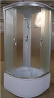 Душевой бокс без электроники на глубоком поддоне 900*900*2150 мм полностью стеклянный Fabric EKO ELEPHANT TM-983