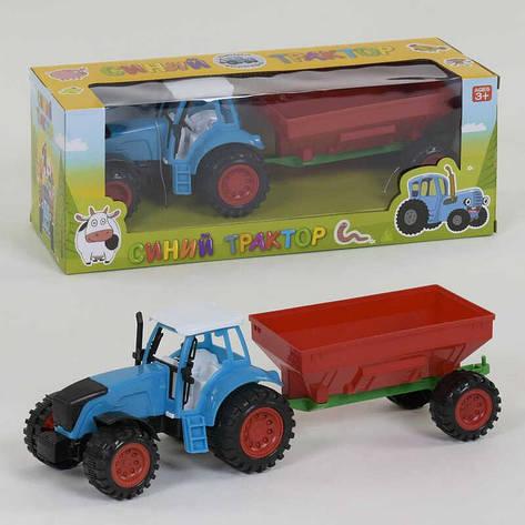 Трактор с прицепом 0488-264 BQ (72/2) инерция, в коробке, фото 2