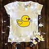 Женская футболка  с принтом - Утка - бл#