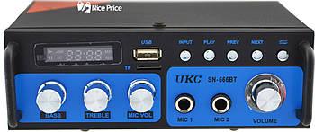 Усилитель звука UKC SN-666BT MP3 FM Bluetooth Blue (3388)