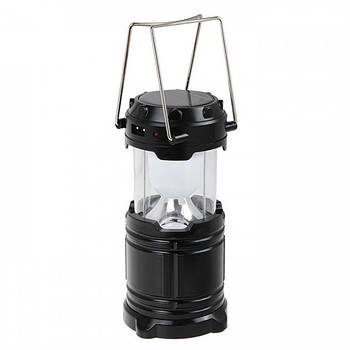 Кемпинговая LED лампа G85 c солнечной панелью черная