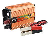 Преобразователь напряжения(инвертор) 24-220V 500W Gold