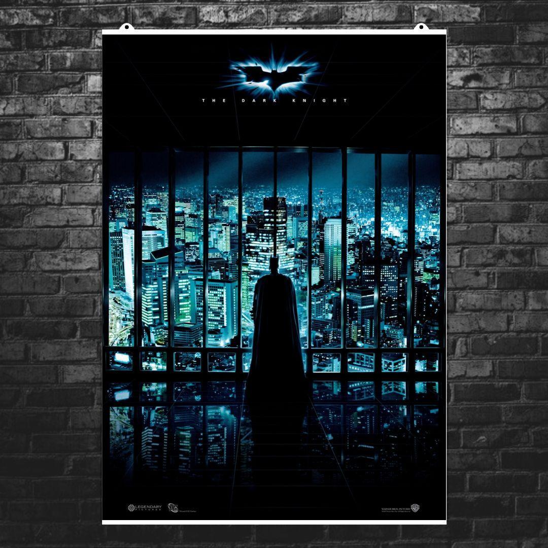 "Постер ""Бэтмен: Тёмный Рыцарь"". Batman: Dark Knight, ночной Готэм. Размер 60x42см (A2). Глянцевая бумага"