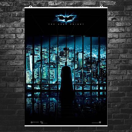 "Постер ""Бэтмен: Тёмный Рыцарь"". Batman: Dark Knight, ночной Готэм. Размер 60x42см (A2). Глянцевая бумага, фото 2"