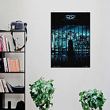 "Постер ""Бэтмен: Тёмный Рыцарь"". Batman: Dark Knight, ночной Готэм. Размер 60x42см (A2). Глянцевая бумага, фото 3"