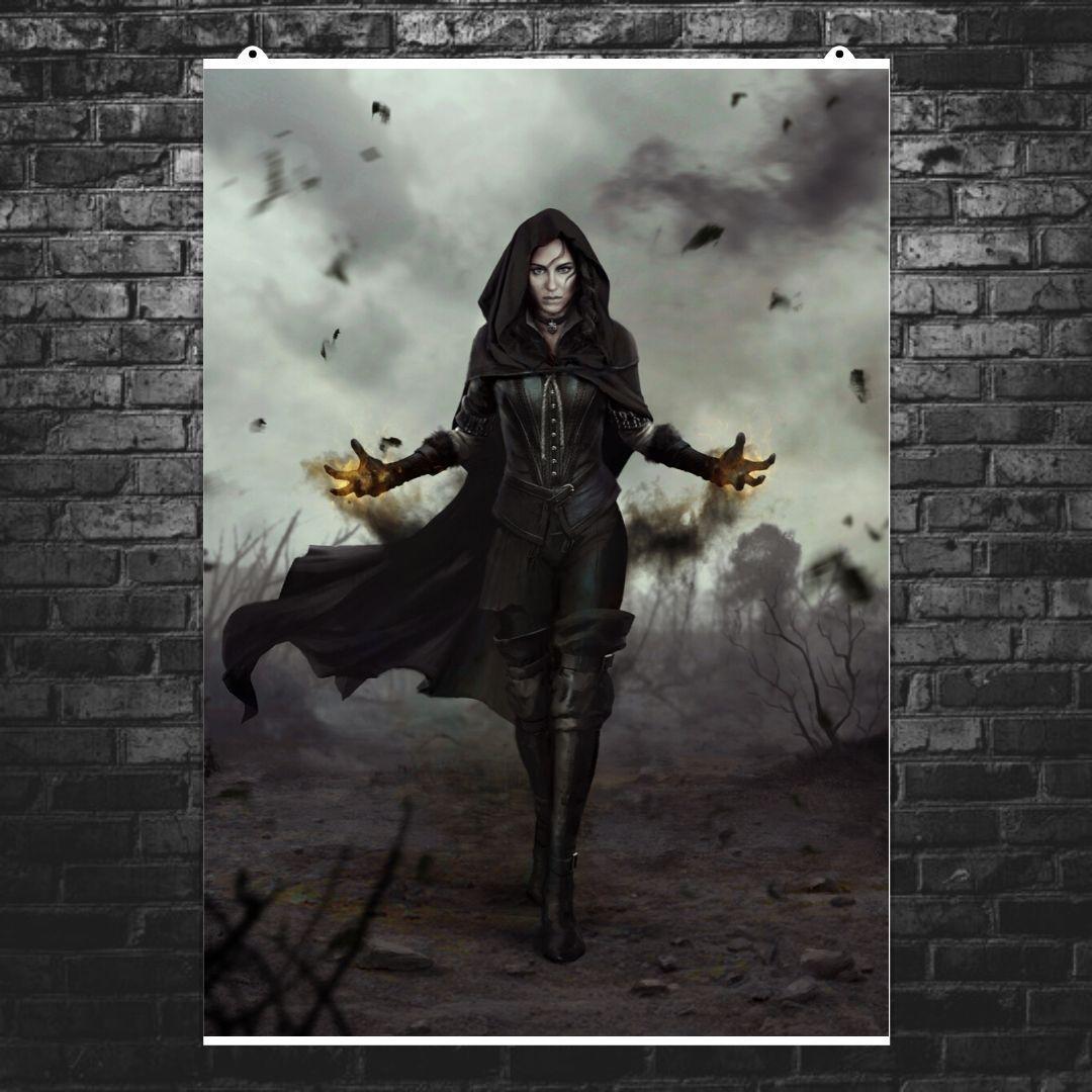 """Постер """"Йенифер"""". Ведьмак, Witcher. Размер 60x42см (A2). Глянцевая бумага"""