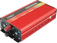 Преобразователь авто инвертор UKC 24V-220V AR 4000W c функции плавного пуска + USB (5148)