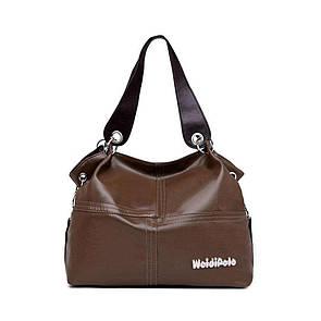 Стильная женская сумка WeidiPolo Коричневый
