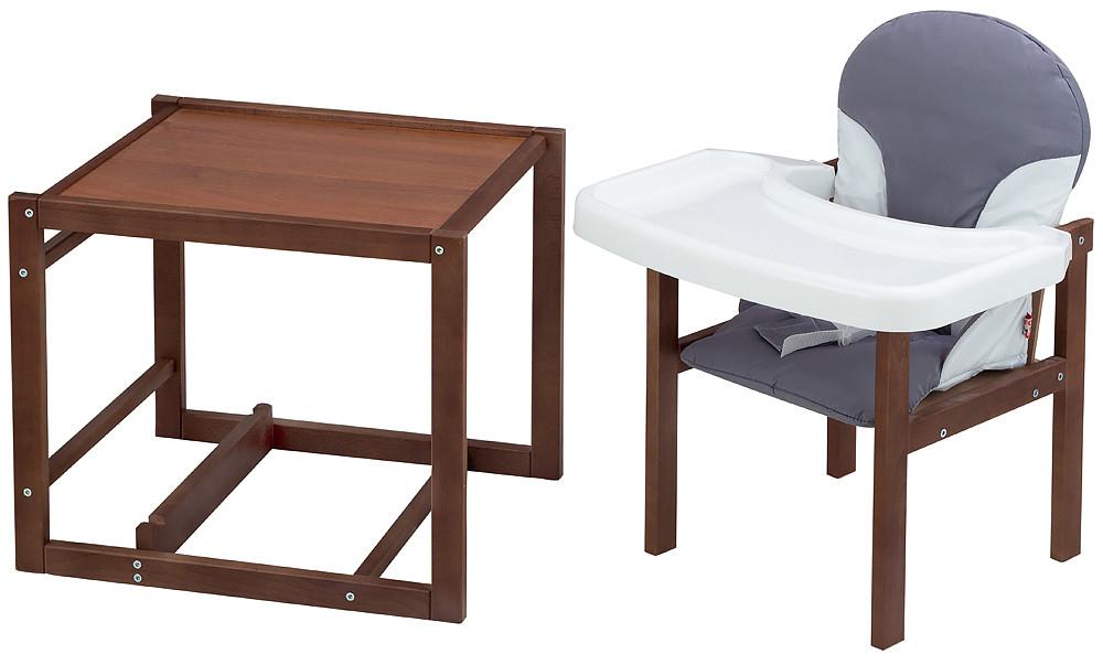 Стульчик- трансформер For Kids Бук-04 темный пластиковая столешница  серый