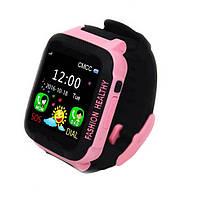 Умные часы Smart Baby Смарт-часы UWatch K3 Kids waterproof smart watch Black/Pink