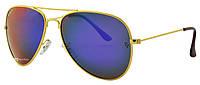 Cолнцезащитные очки Ray Ban Aviator поляризованные 3026 W3282 3N синие (реплика)