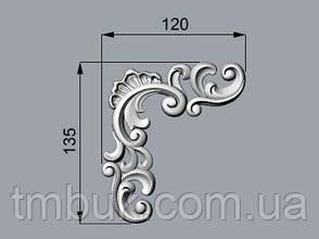 Угловой декор 30 барокко - 120х135 мм, фото 2