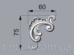 Угловой  декор 28 барокко - 60х75 мм, фото 2