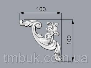 Угловой декор 26 деревянный - 100х100 мм, фото 2
