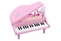 Детское пианино синтезатор Baoli с микрофоном 31 клавиша (розовый)