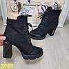 Ботинки на широком каблуке с платформой на шнуровке В НАЛИЧИИ ТОЛЬКО 35р, фото 7