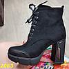 Ботинки на широком каблуке с платформой на шнуровке В НАЛИЧИИ ТОЛЬКО 35р, фото 8