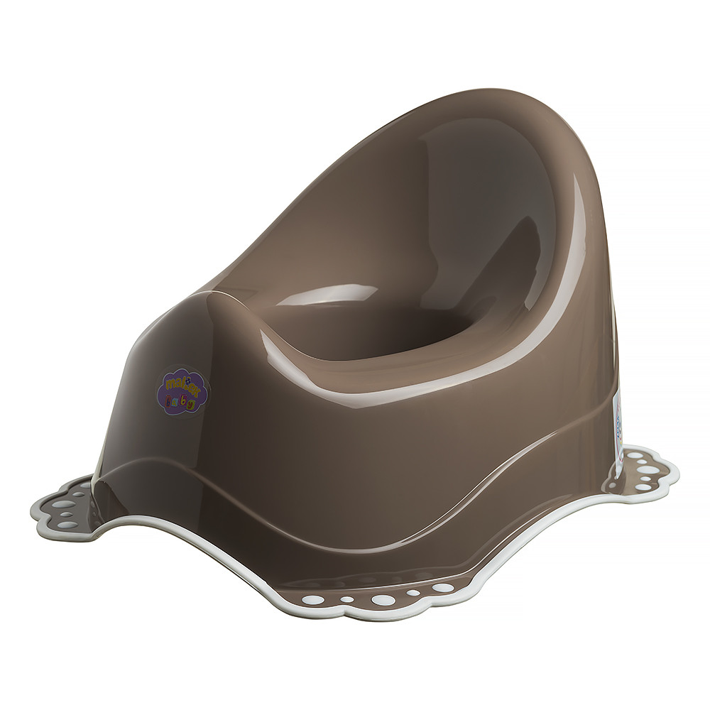 Горшок Maltex Classic 7200 нескользящий  brown with white rubbers