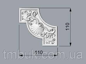 Угловой декор 20 деревянный - 110х110 мм, фото 2