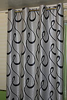 Комплект штор на люверсах, коллекция блэкаут, цвет серый, фото 1