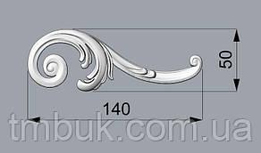 Угловой декор 15 деревянный - 140х50 мм, фото 2