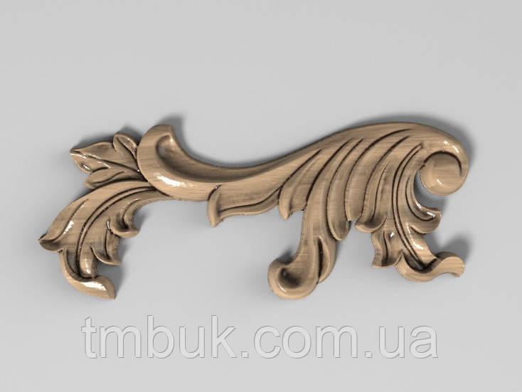 Угловой декор 14 барокко - 120х50 мм
