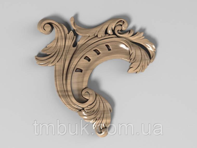 Угловой декор 13 барокко - 70х70 мм