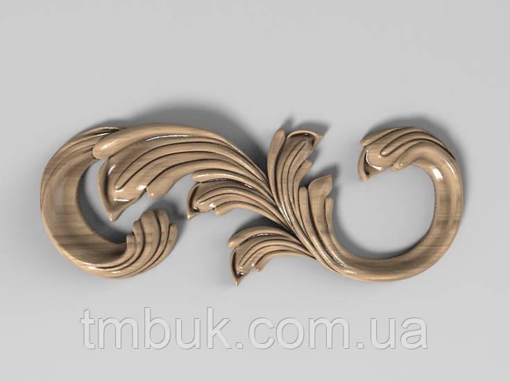 Угловой декор 10 из дерева - 130х50 мм