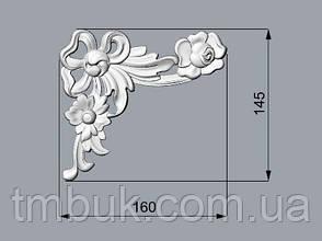 Угловой декор 7 резной - 160х145 мм, фото 2