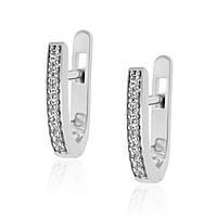 Женские серебряные серьги GS со вставками фианита - тип.4628