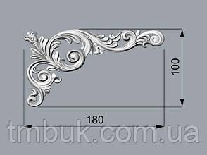 Угловой декор  6 для мебели - 180х100 мм, фото 2
