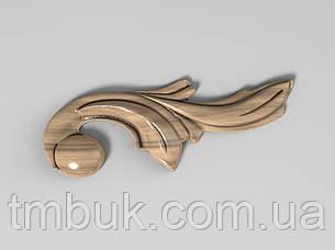 Угловой декор 1 из дерева - 75х30 мм, фото 2