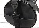 Спортивная сумка бочонок Triumph Bag. Для тренировок, путешествий. Черная, фото 4