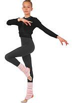 Кофта разогревочная черная для гимнастики, фото 3