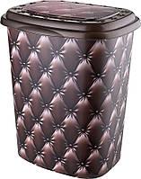 Корзина для белья Elif Капитон коричневый 339-16 #O/Z