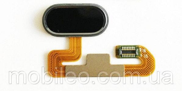 Шлейф для Meizu M3E с кнопкой меню (Home) черный