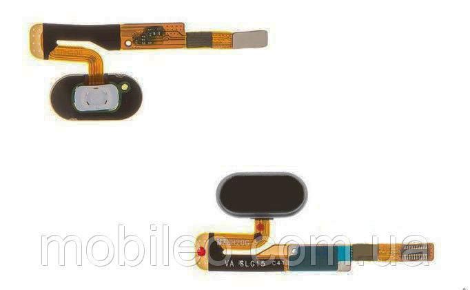 Шлейф для Meizu Pro 6s с кнопкой меню (Home) черный