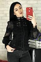 Блузка женская черная размер 44 1797, фото 1