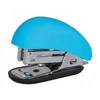 Степлер №24/6, 26/6 Optima, до 12 л, Soft Touch, пласт. корпус, голубой O40263-11
