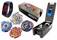 Игровой набор BEYBLADE Бокс + Бейблейд Цвай Луинор Л5 + Бейблейд Волтраек GoD + Бейблейд Карающий Джокер + Starter Revive Phoenix B-117 + Ручка +
