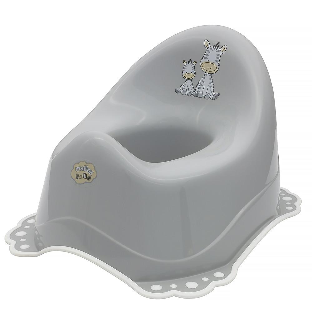 Горшок Maltex ZEBRA 6517 нескользящий grey with white rubbers
